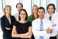 Porträt des geschäfts team in office Lizenzfreies Stockfoto