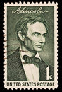 Portrait of Abraham Lincoln Stock Photos