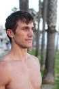 Portrait of an active young man at beach Royalty Free Stock Photography