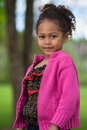 Portrait of a Adorable little African Asian girl Royalty Free Stock Images