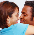 Portrait of an affectionate young couple Royalty Free Stock Images