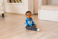 African American baby boy indoors Royalty Free Stock Photo