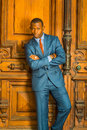 Portrait of African American Businessman in New York
