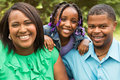 Portrait of an African American family Royalty Free Stock Photo