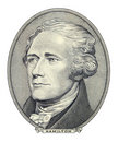 Portrait of Alexander Hamilton Royalty Free Stock Photography