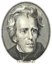 Portrait of Andrew Jackson Royalty Free Stock Photo