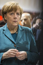 Portrait of angela merkel chancellor of germany hanover april at hannover messe april the hannover messe is the largest industrial Royalty Free Stock Photography