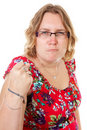 Portrait of angry woman Royalty Free Stock Images