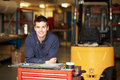 Portrait Of Apprentice Engineer In Factory Royalty Free Stock Photo