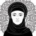 Portrait of arabic muslim woman
