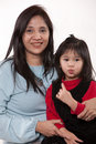 Portrait of asian mother daughter Stock Images
