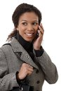 Portrait of attractive businesswoman on phone Stock Photos