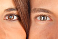 Portrait attractive couple faces closeup Stock Images