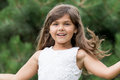 Portrait of attractive happy little girl Royalty Free Stock Photo