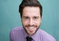 Portrait of an attractive young business man smiling close up Royalty Free Stock Photography
