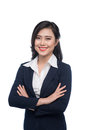Portrait of an attractive young businesswoman isolated on white. Royalty Free Stock Photo