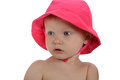 Portrait of Baby Girl with pink hat Stock Images