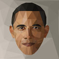 Portrait Barack Obama U.S. president low poly USA Royalty Free Stock Photo