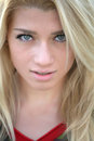 Portrait of a beautiful blond girl close up Royalty Free Stock Photography