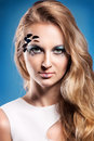 Portrait of beautiful blond girl with make up Royalty Free Stock Photo