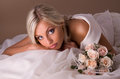 Portrait of beautiful blonde bride Royalty Free Stock Image