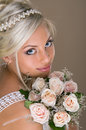 Portrait of beautiful blonde bride Stock Image