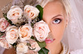 Portrait of beautiful blonde bride Royalty Free Stock Photo