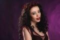 Portrait of beautiful brunette woma fashion photo woman Stock Photography
