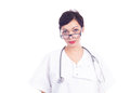 Portrait of beautiful female doctor Royalty Free Stock Photo