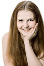 Portrait of a beautiful female mode Royalty Free Stock Photo