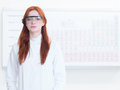 Portrait of beautiful female scientist Royalty Free Stock Photo