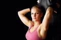 Portrait of Beautiful Fitness Woman Royalty Free Stock Images