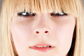 Portrait of a beautiful girl with bangs Stock Images
