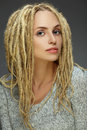 Portrait of a beautiful girl with dreadlocks Royalty Free Stock Photography