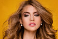 Portrait of beautiful girl in glamour makeup. Royalty Free Stock Photo