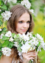 Portrait of a beautiful girl in spring Royalty Free Stock Images