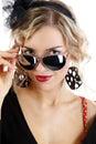 Portrait of a beautiful girl in sun glasses Stock Photo