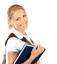 Portrait of beautiful happy student female Royalty Free Stock Image