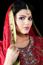 Portrait of a beautiful indian bride Stock Images