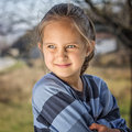 Portrait of a beautiful liitle girl Stock Images