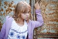 Portrait of beautiful little blond Russian girl Royalty Free Stock Images