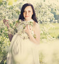 Portrait of beautiful pregnant woman Royalty Free Stock Image