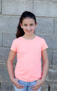 Portrait of a beautiful preteen girl with blue eyes Royalty Free Stock Photo