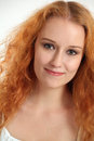 Portrait of a beautiful redhead Stock Images
