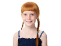Portrait of a beautiful redhead joyful little girl Royalty Free Stock Photo