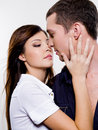 Portrait of beautiful sexual couple Stock Photo
