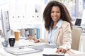 Portrait of beautiful smiling office worker Royalty Free Stock Photography