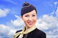 Portrait of beautiful smiling stewardess