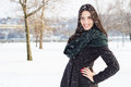 Portrait of a beautiful snow girl winter Royalty Free Stock Photography