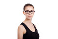 Portrait of beautiful teen girl with wayfarers Royalty Free Stock Image